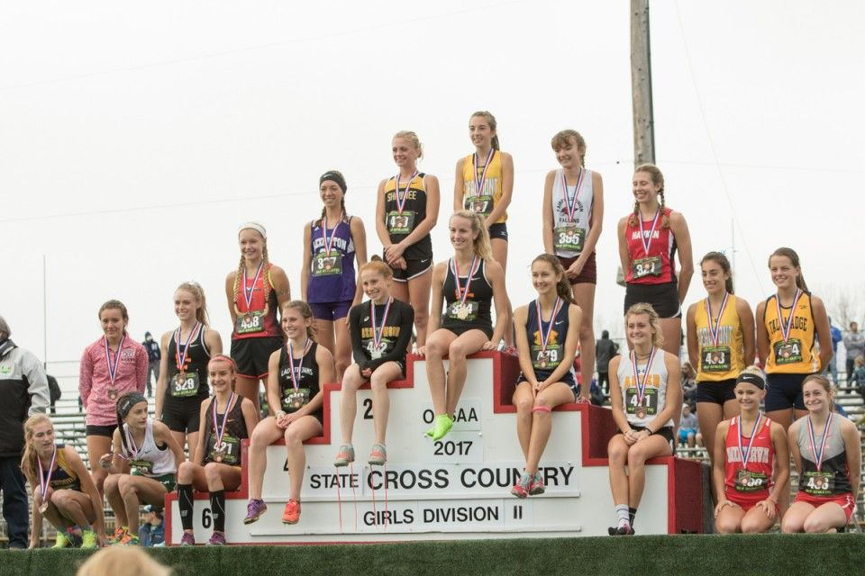 3rd Place Rachel Ploeger Monroe (sitting bottom row fourth from right) 18:25.5